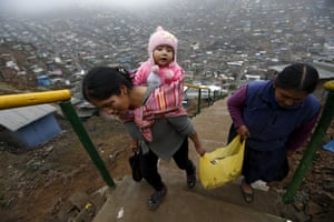 Residents of Pamplona Alta, a shanty town in San Juan de Miraflores, on the outskirts of Lima.