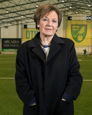 Delia Smith, celebrity cook and Norwich City FC joint majority shareholder.