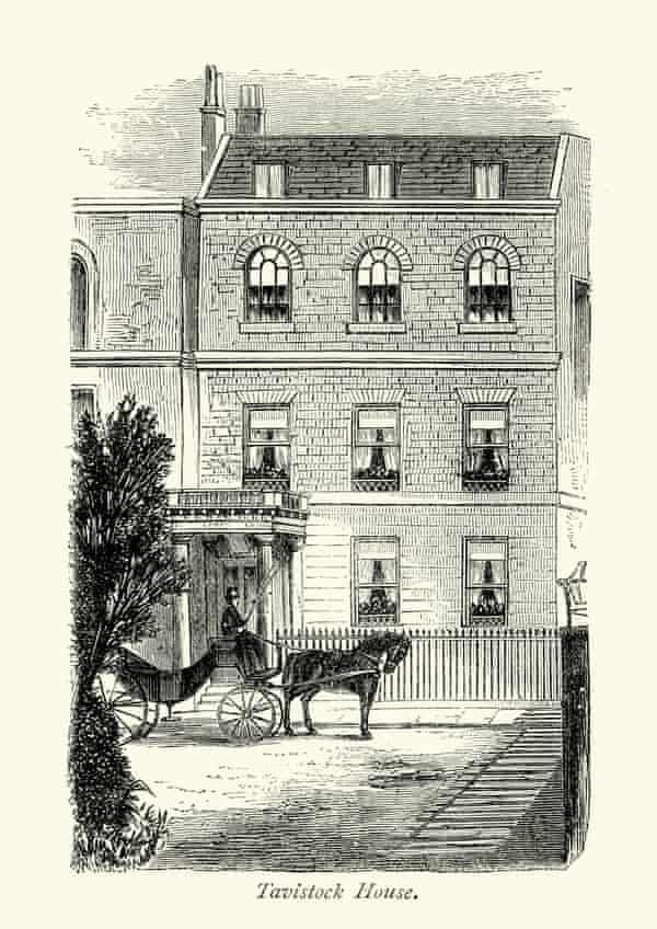 Tavistock House in central London, where Dickens and his family lived from 1851 until 1860