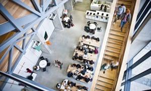 Inside the school of art at Manchester Metropolitan University