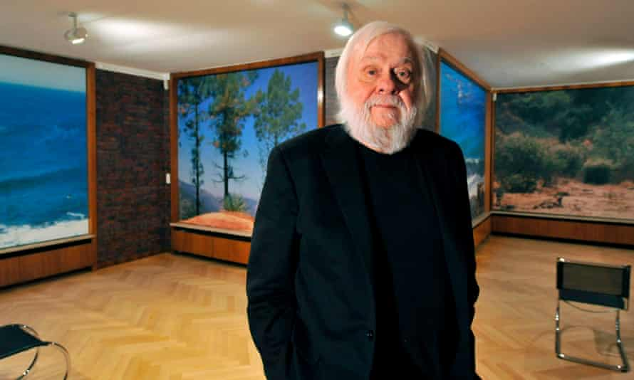 John Baldessari in 2009. 'I was probably raised European without even realising it … I remember trying to shop my paintings around LA and not having any success,' he said.