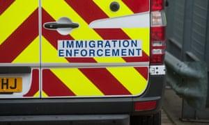 A Home Office immigration enforcement van