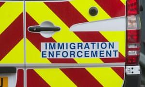 Immigration enforcement vans