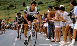 Paul Sherwen at Alpe d'Huez during the Tour de France, 1980.