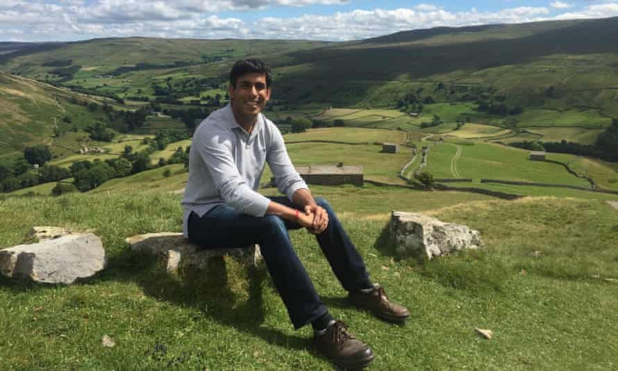 Rishi Sunak at home in the Yorkshire Dales