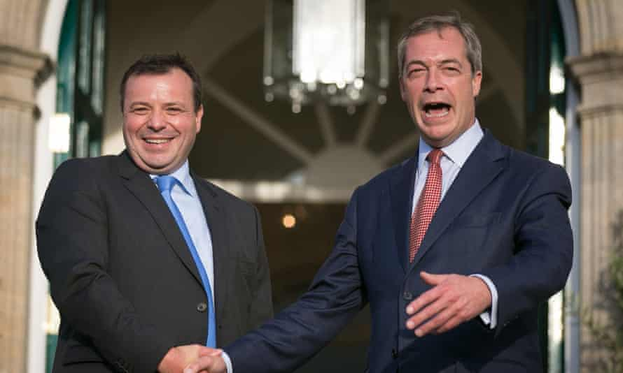 Arron Banks with Nigel Farage in 2014.
