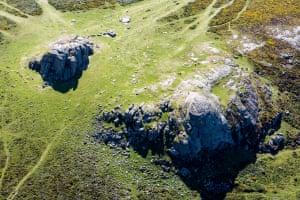 Flying over Haytor Rocks, Dartmoor: my favourite view in Britain!