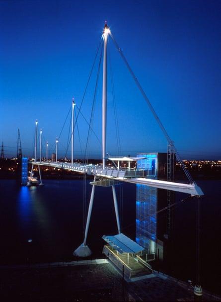 The Royal Victoria Dock Bridge.