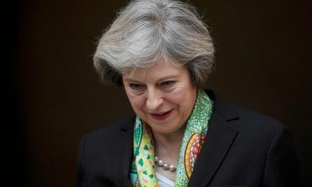 Drowning in paradoxes … Theresa May.