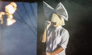 Sia often wears a dramatic wig to obscure her face and to protect her privacy.
