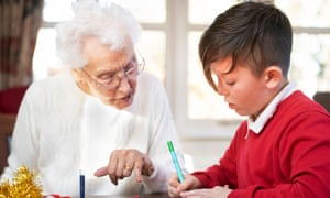Schoolchildren in the Bristol area visit care homes to make Christmas decorations with residents in a programme organised by the charity Alive Activities.
