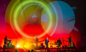 Designer Es Devlin's array of circles in action in support of the Pet Shop Boys.