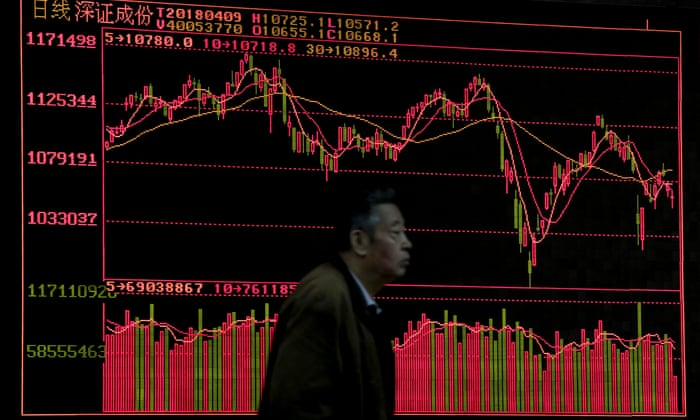 Resultado de imagen de The Dow Jones industrial average turned negative as global trade war fears mount