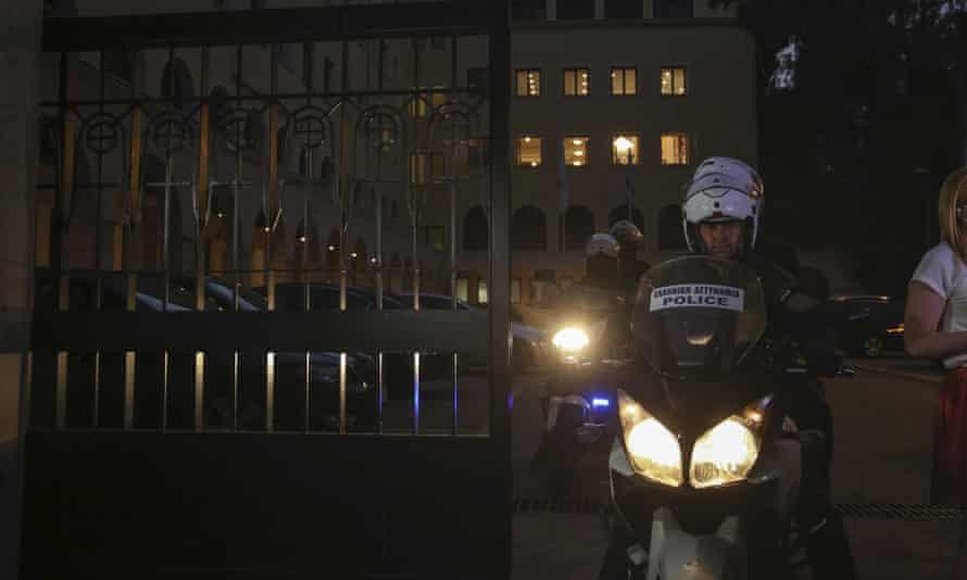 Police officer by Petraki monastery