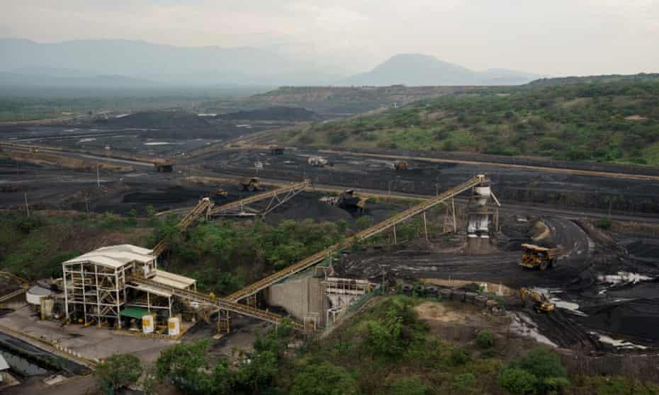 Work in progress at the Cerrejón coal mine complex last October