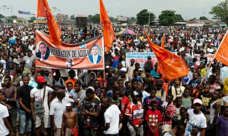 A political rally in the DRC