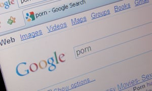 A Google search for porn