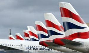 British Airways aircraft on tarmac
