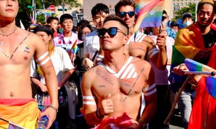 Marchers at Taipei Pride