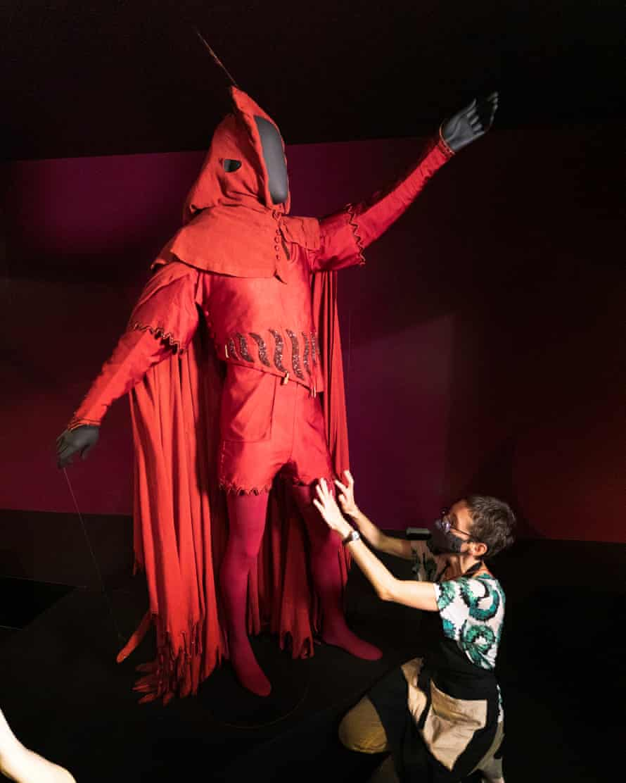 Henry Irving's Mephistopheles costume for a 1885 production of Faust.