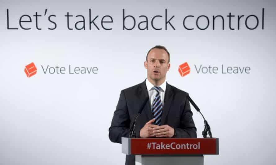 Dominic Raab speaks at a Vote Leave campaign event in London on 8 June 2016.