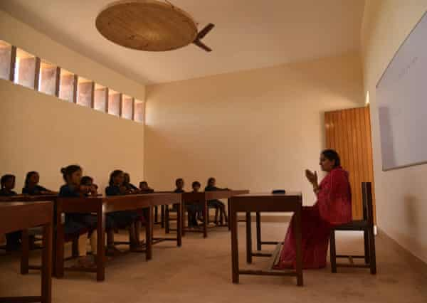 A classroom in the Gyaan Centre, Jaisalmer.