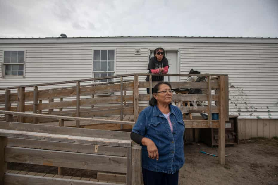 Ella Coleman, front, and daughter Tricia Coleman on the Pine Ridge Indian Reservation