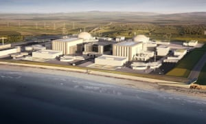 A computer generated image of the proposed Hinkley Point C nuclear power plant.