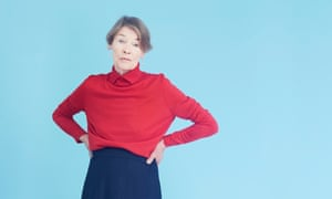 Actor and former MP Glenda Jackson, photographed against a blue background, 2017