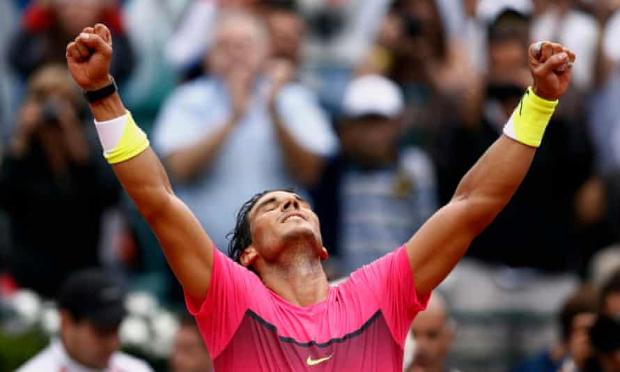 Spain's Rafael Nadal celebrates after winning the final of the Argentina Open against Juan Mónaco .