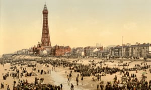 The Promenade and Tower from South Pier, Blackpool, 1900.