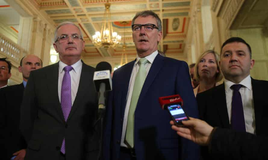 Ulster Unionist Party leader Mike Nesbitt at Stormont
