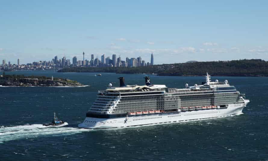 The Celebrity Solstice enters Sydney Harbour on 4 April 2020