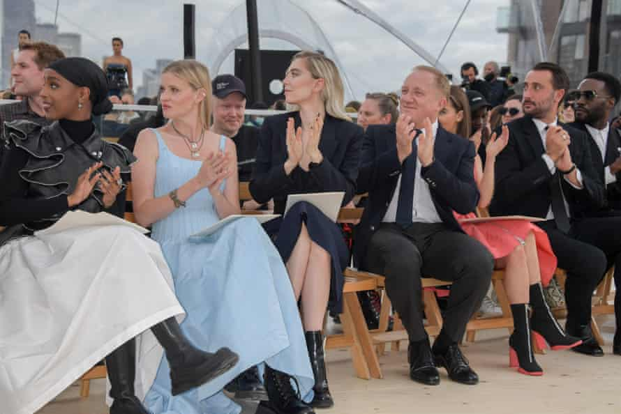 The celebrity-packed front row included Kosar Ali, Lara Stone, Vanessa Kirby, François-Henri Pinault, Emilia Clarke and Alexander McQueen chief executive, Emmanuel Gintzburger.
