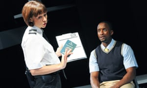 Claire Lams and Peter Bankole in Rachel De-lahay's play Routes at the Royal Court in 2013
