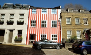 The west-London striped house.