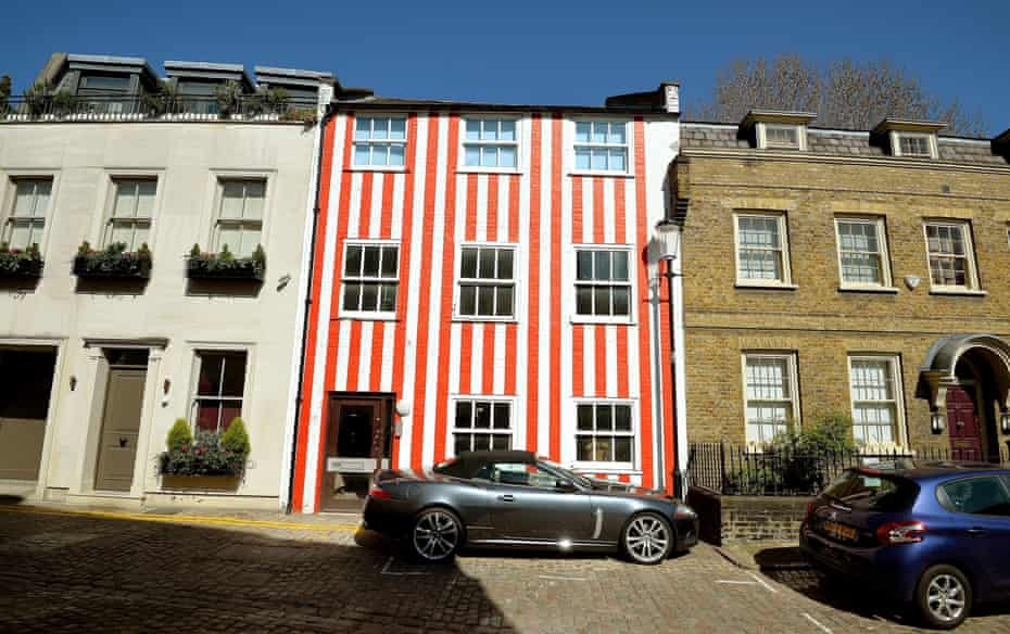 Candy-striped townhouse, London