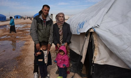 Abd and his family, displaced people from Deir Ezzour in Hasakeh