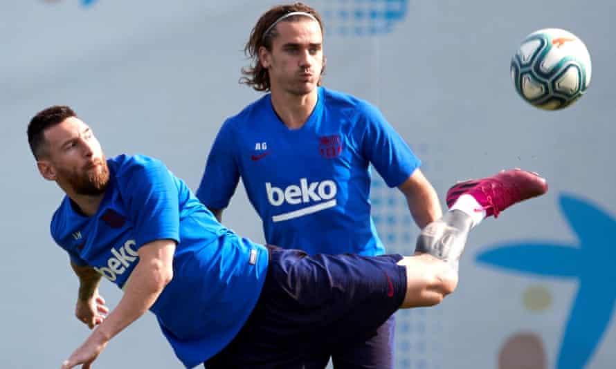 Lionel Messi and Antoine Griezmann.