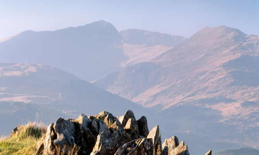 Volunteers from Llanberis mountain rescue team were called to the incident on the summit of Snowdon at about 1.30pm on Wednesday.