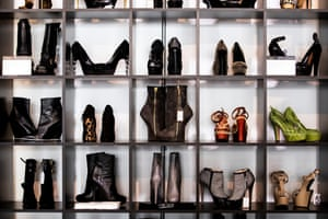 Beverly Hills, US. Shoes are displayed during the preview of an auction called 'Janet Jackson's iconic treasures' at Julien's Auctions in California
