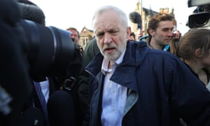 Jeremy Corbyn in Stoke after Labour won the byelection