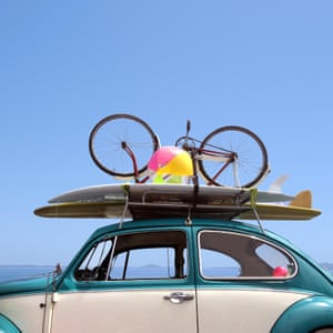 Summer holiday road trip vacation, Travel concept