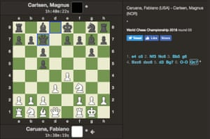 World Chess Championship 2018, Game 3 (after six moves)