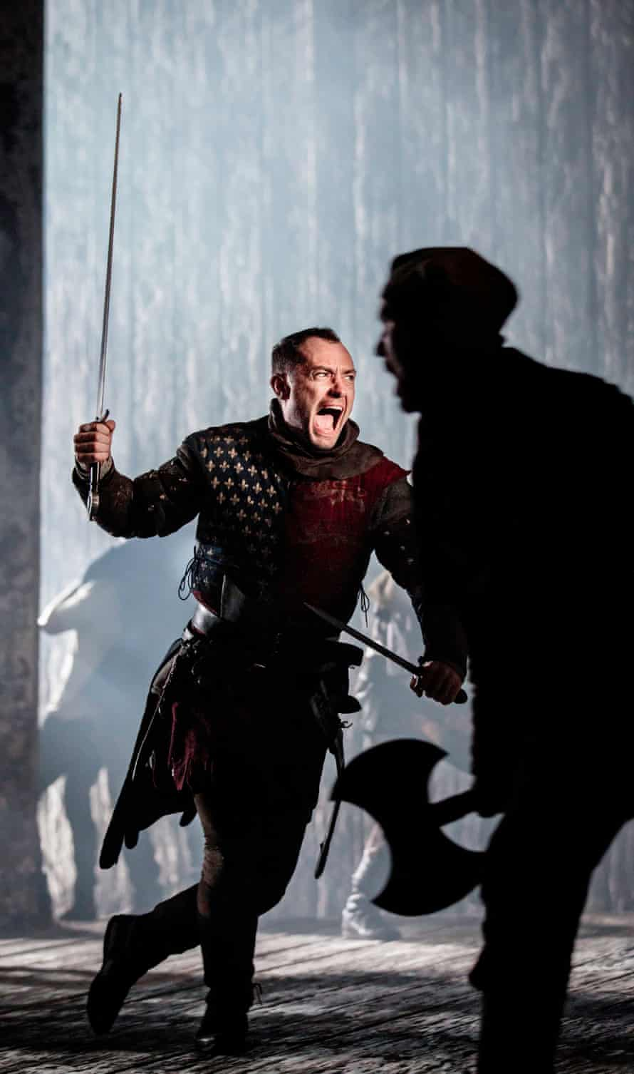 Jude Law as Henry V.
