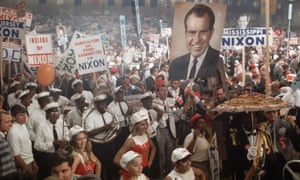 President Richard Nixon supporters at 1972 Republican National Convention.