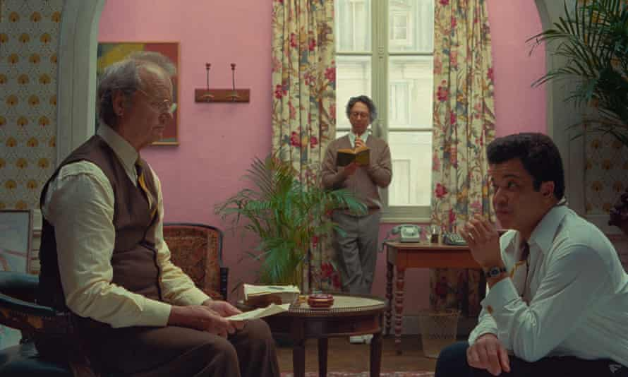 Bill Murray, left, in The French Dispatch, directed by Wes Anderson.