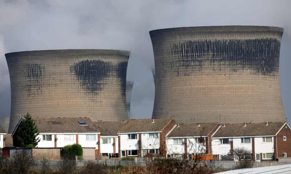 Steam rises from the cooling towers of the Ferrybridge power station on March 13, 2009 in Ferrybridge, Yorkshire, England.
