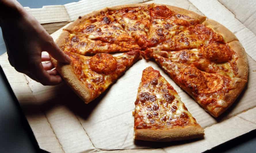 Domino's Pizza in a delivery box