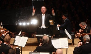 Nikolaus Harnoncourt conducting Beethoven's Piano Concerto No 1 in C Major with Lang Lang and the Vienna Philharmonic Orchestra at Carnegie Hall, New York, in 2010.